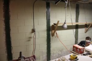 Reinforcement of cinder block foundation wall