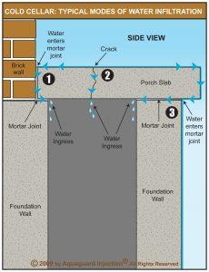 illustration of cold cellar leaks