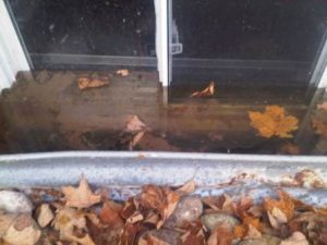 Insufficient drainage can cause water to come into the basement right through the window!