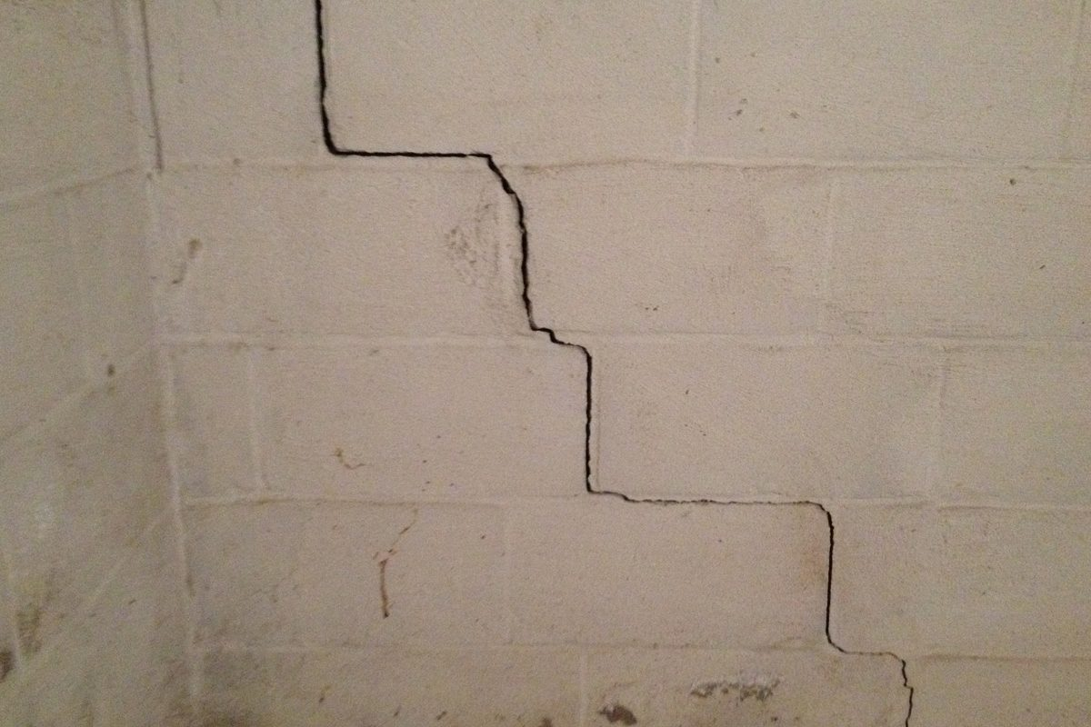 S In Cinder Block Foundations And Their Repair