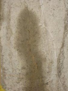 Typical concrete shrinkage crack
