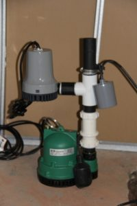Typical battery back-up system for a residential sump pump