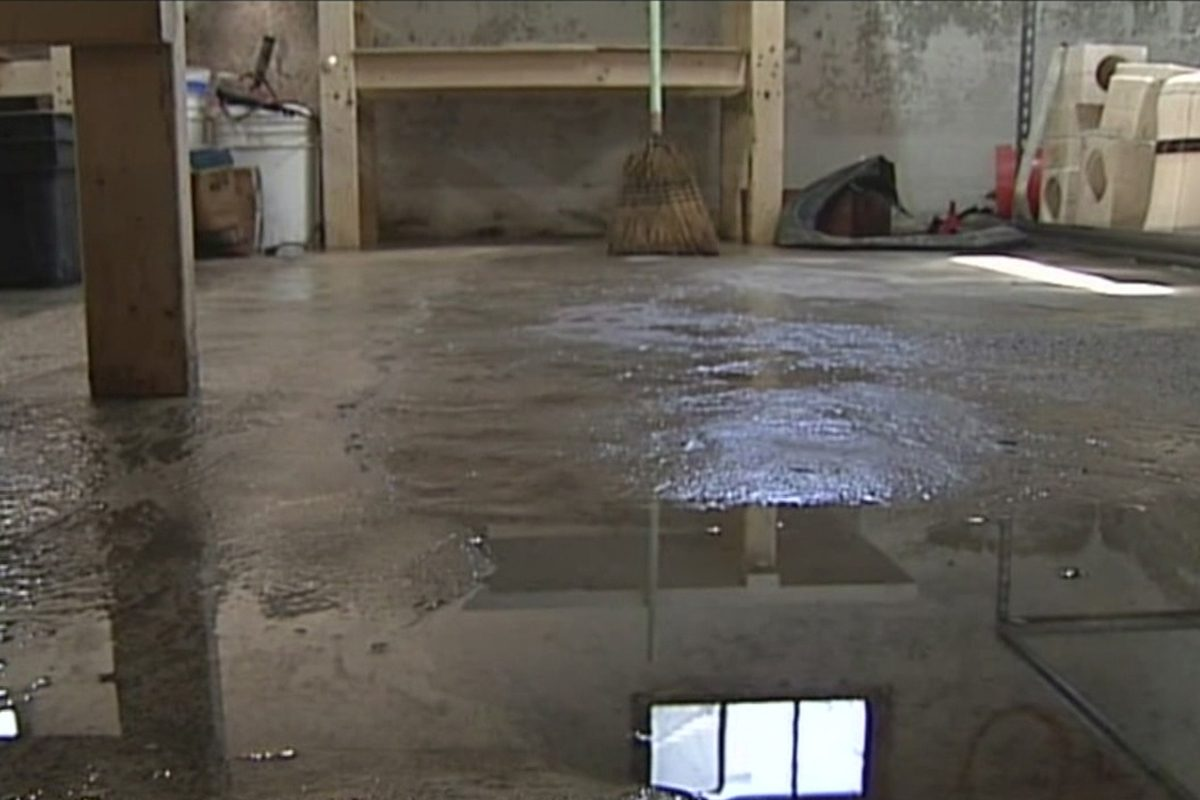 Why water comes up through the basement floor - how to stop